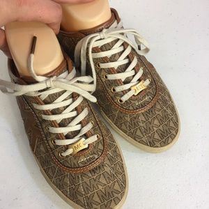 MICHAEL Michael Kors Shoes - Michael Michael Kors Brown & Gold Sneaker Shoes